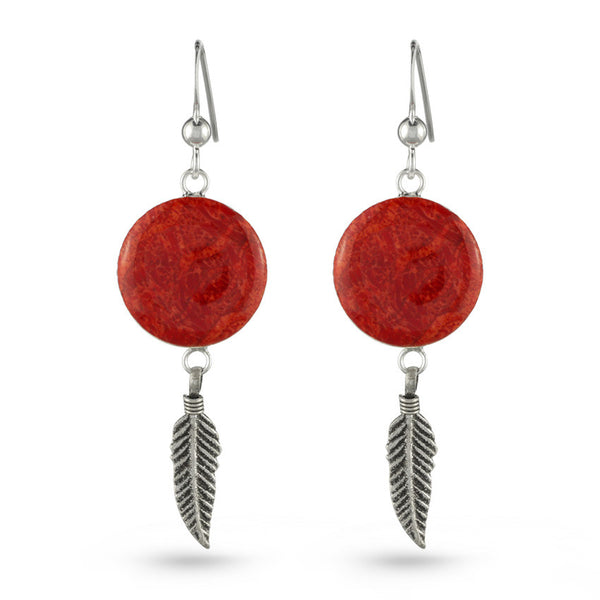 Coral Culture Dream Catcher Drop Earrings