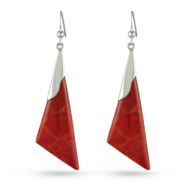 Coral Culture Triangle Drop Earrings
