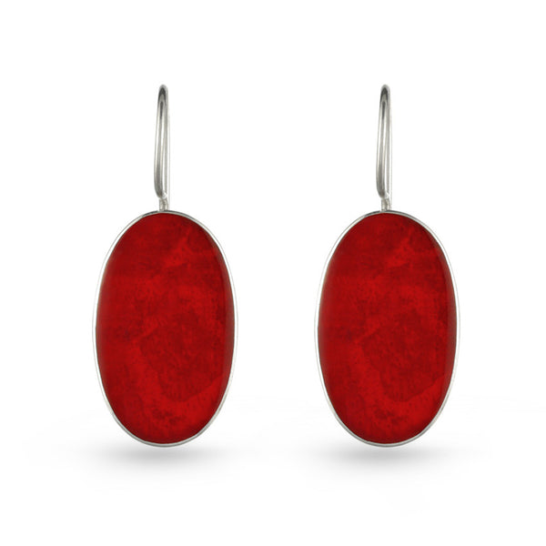 Coral Culture Stone Drop Earrings