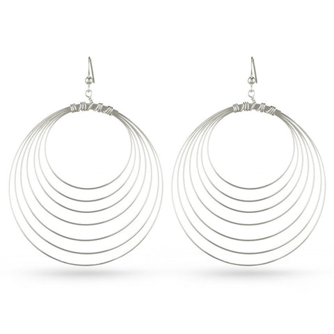 Eight Circles Drop Earrings