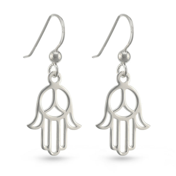 Hand Of Peace Drop Earrings
