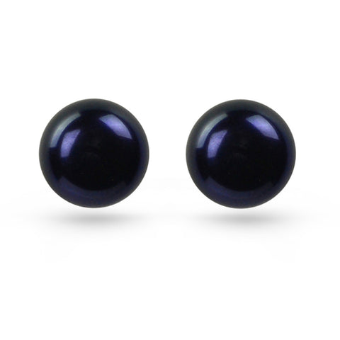Black Pearl Stud Earrings (10mm)