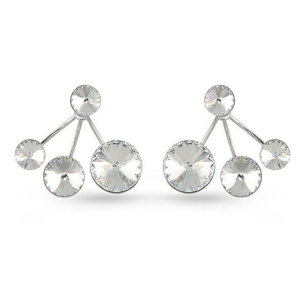White Swarovski Crystal Ear Jackets