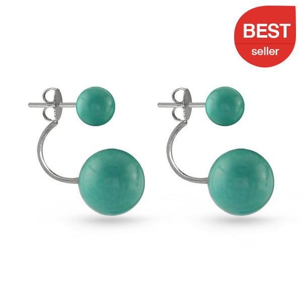 Turquoise Ball Earring Jackets