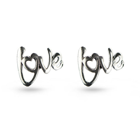 Love Message Stud Earrings