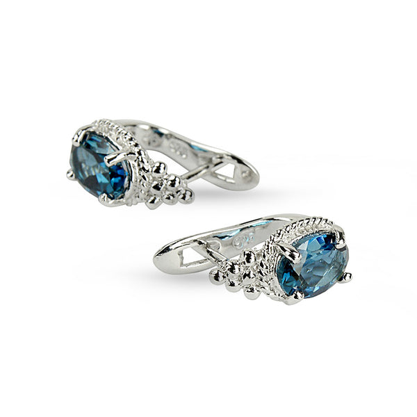 London Blue Topaz Stud Earrings No.8