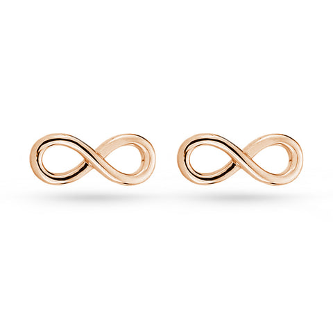 Rose Gold Infinity Love Stud Earrings