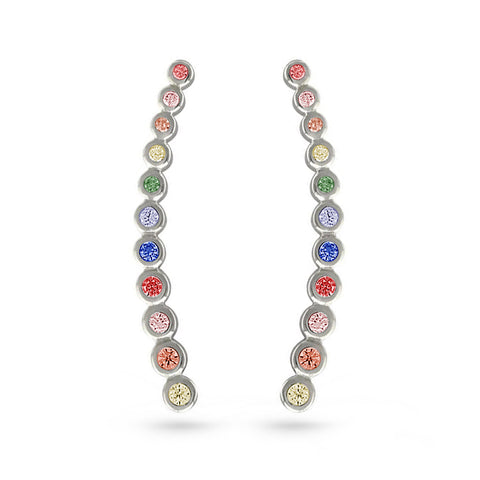 Rainbow Ear Cuff Earrings Circle 11