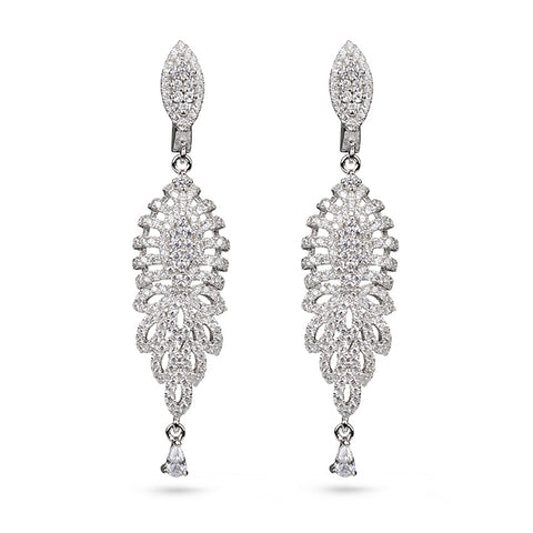 Bridal Cubic Zirconia Drop Earrings