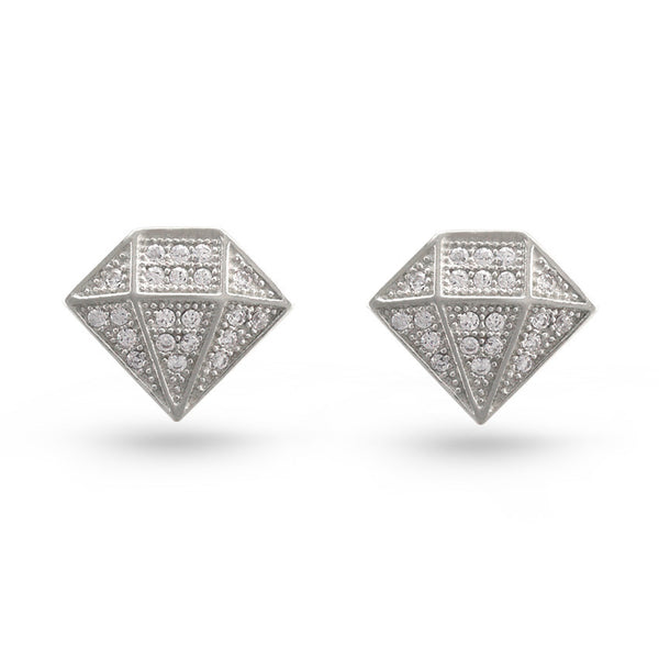 Diamond Cut Stud Earrings