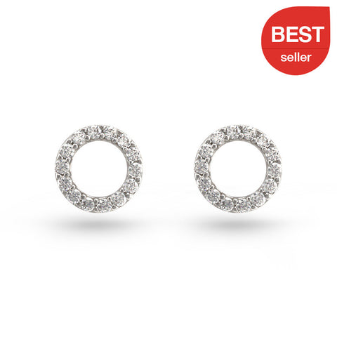 Enso Circle Stud Earrings