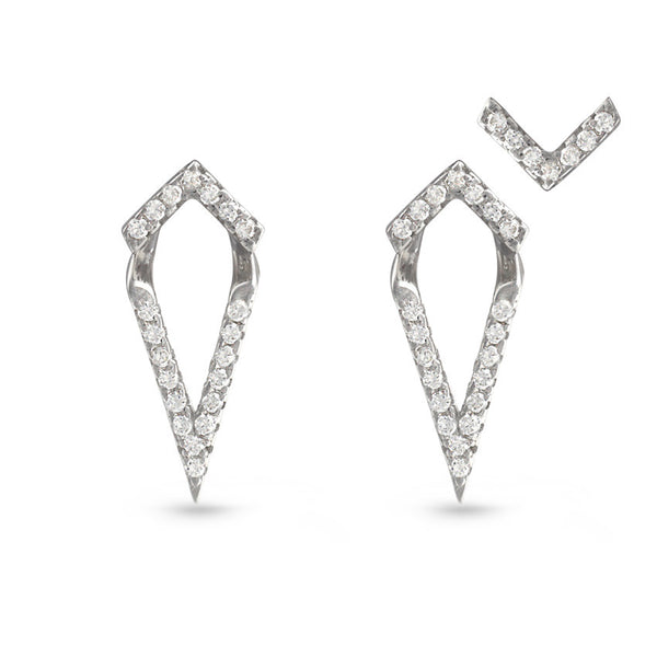 Triangle Stud Earrings with Enhancers