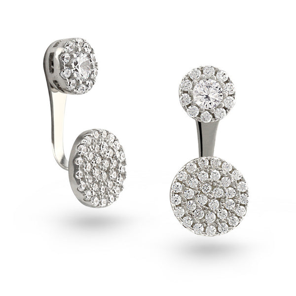 Circle Stud Earrings with Enhancers