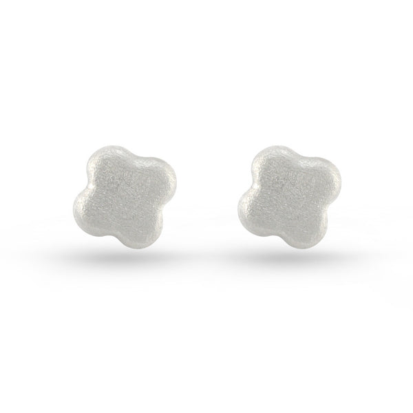 Embossed Flower Stud Earrings
