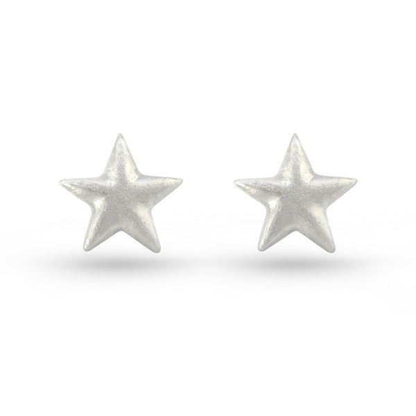 Embossed Star Stud Earrings