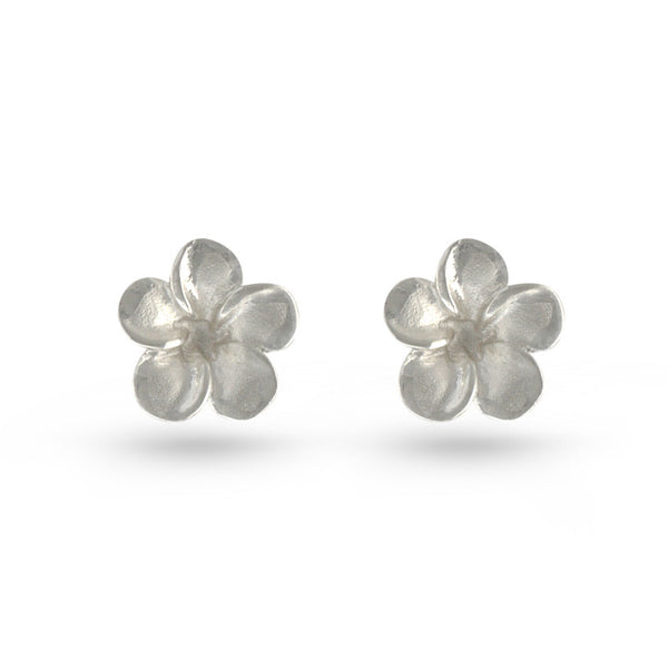 Wild Rose Flower Stud Earrings