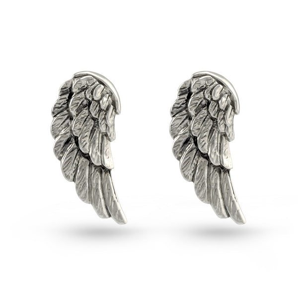 Angel Wings Sterling Silver Stud Earrings