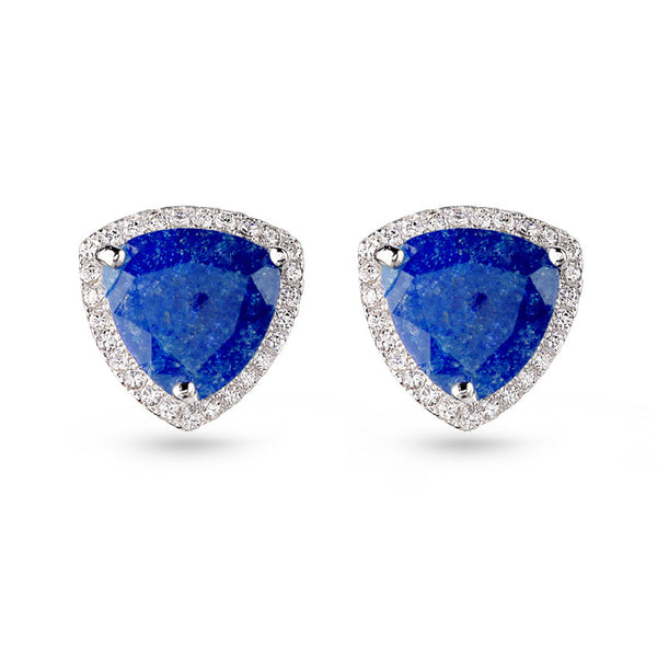 Blue Quartz Stud Earrings