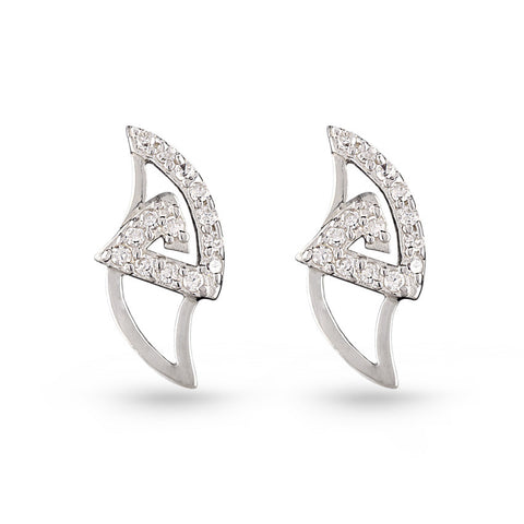 Cubic Zirconia Stiletto Stud Earrings