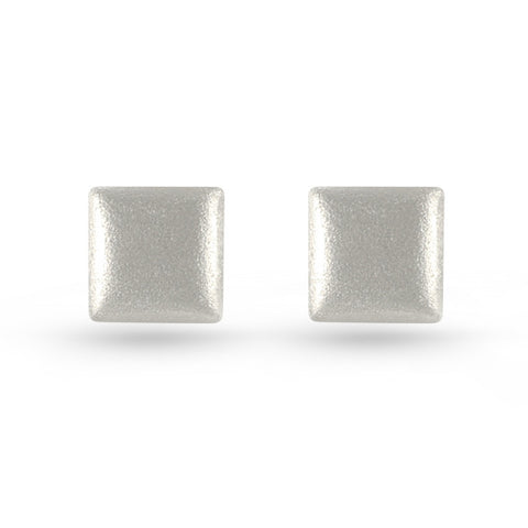 Embossed Square Stud Earrings