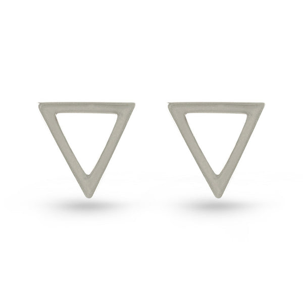 Triangle Frame Stud Earrings