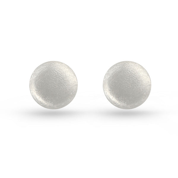 Embossed Round Stud Earrings