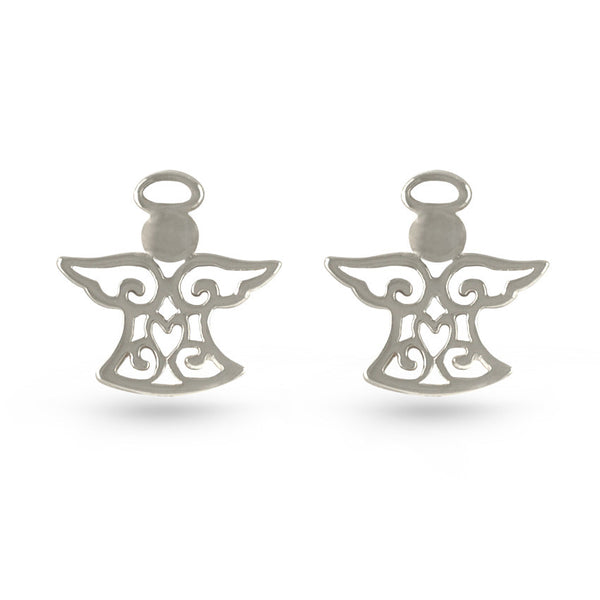 Angel Sterling Silver Stud Earrings