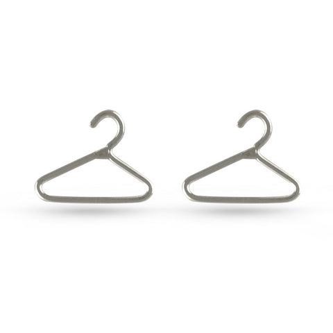 Coat Hanger Stud Earrings