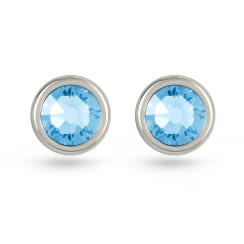 Aquamarine Swarovski Crystal Stud Earrings