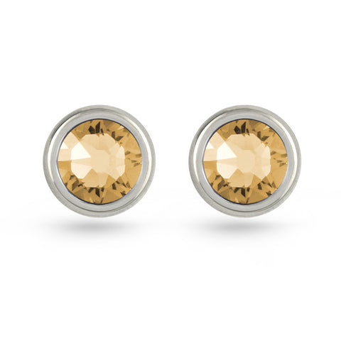Light Colorado Topaz Swarovski Crystal Stud Earrings