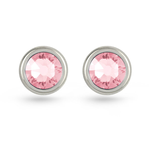 Light Rose Swarovski Crystal Stud Earrings