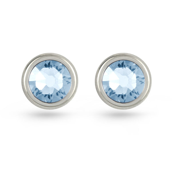 Light Sapphire Swarovski Crystal Stud Earrings