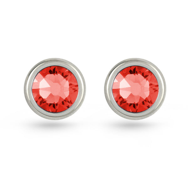 Padparadscha Swarovski Crystal Stud Earrings