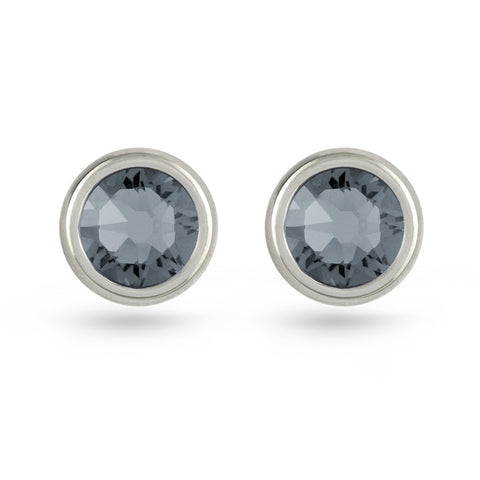 Silver Night Swarovski Crystal Stud Earrings