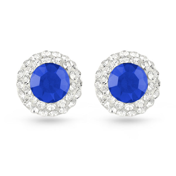 Blue Flare Crystal Stud Earrings