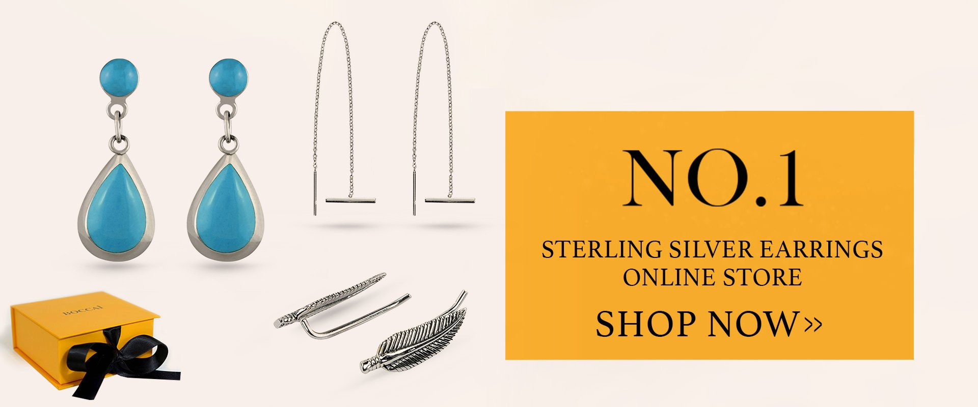Boccai No.1 Sterling Silver Earrings Online Store