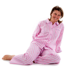 Fine Egyptian cotton candy stripe pyjamas