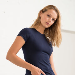 Navy Organic Cotton Ladies Tee