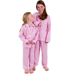 Fine Egyptian cotton candy stripe girls pyjamas