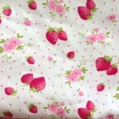 strawberry print detail