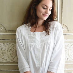 Eliza Nightdress.  100 percent white cotton.