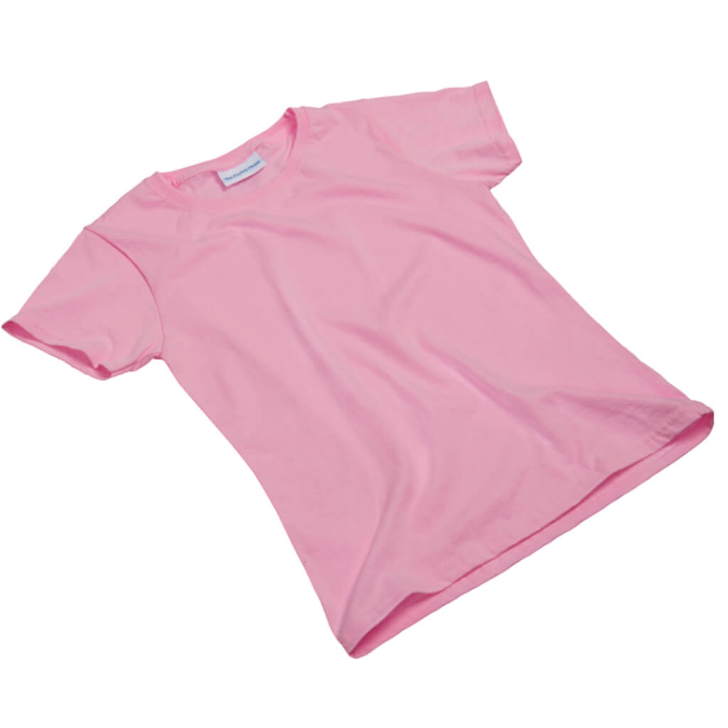 Pale pink girls tee shirt, short sleeve