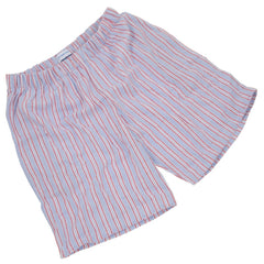 Brushed Cotton Pale Blue and Red Stripe PJ Shorts for Boys/Men
