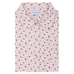 brushed cotton strawberry flower print pyjamas for girls