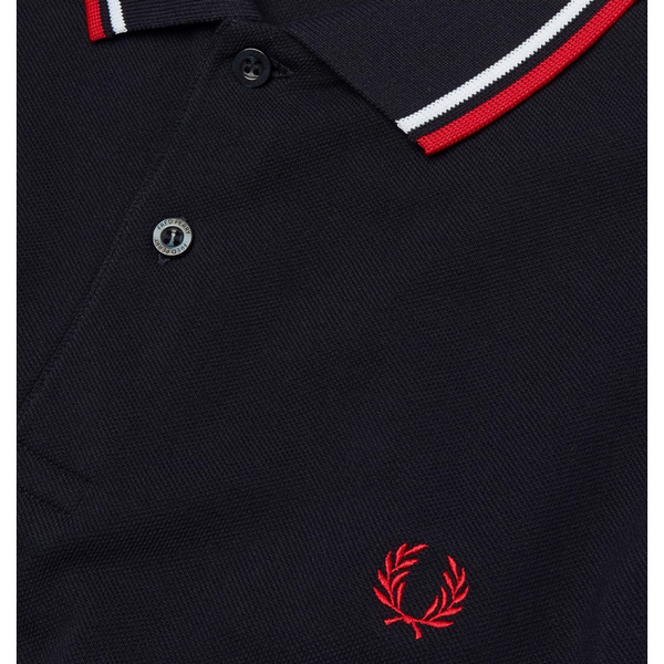 Fred Perry - M3600  Navy/Red/White - Twin Tipped Polo