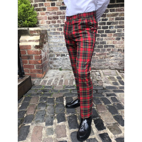 Relco - Red Tartan Sta Press - Trousers