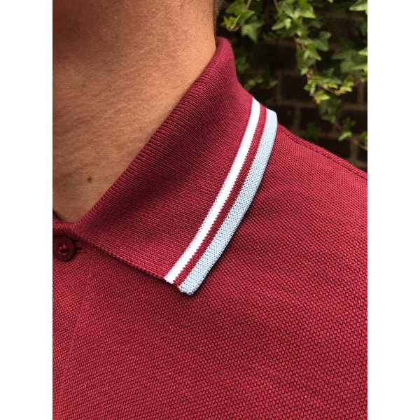 Fred Perry - Made in England M12 Maroon/White/Ice - Polo