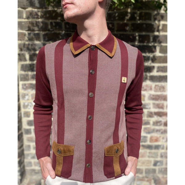 Gabicci x Gregory Isaacs - The Montego Cabernet - Polo Knit
