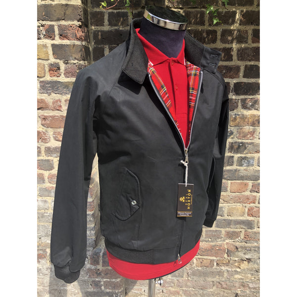 Real Hoxton - Black - Harrington Jacket