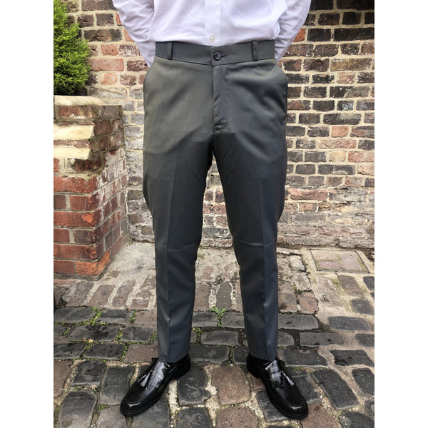 Relco - Green & Gold Tonic Two Tone Sta Press - Trousers